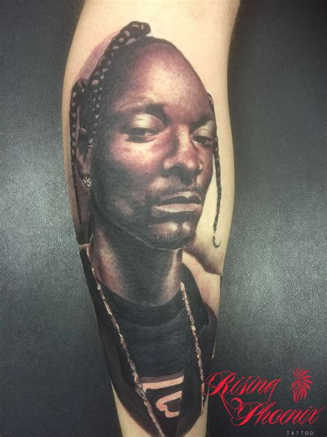 snoop dogg tattoos snoop dogg portrait rising