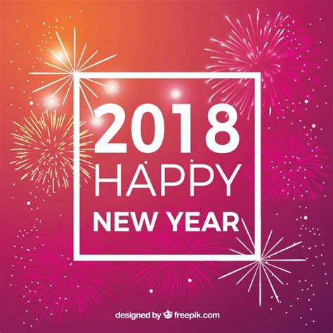 new year vector for free happy new year 2018 background with fireworks vector