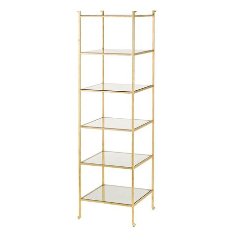 Gold Shelf by Classic Regency Gold Leaf Narrow Etagere Display