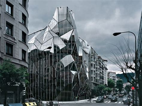 Origami Building - origami glass building neatorama