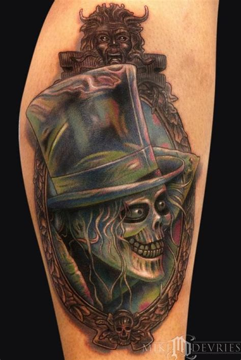 ghost tattoo gallery hat box ghost tattoo by mike devries tattoos