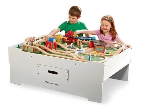 and doug multi activity play table amazon com doug deluxe wooden multi activity
