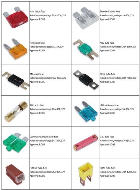 Car Types By Size by Medium Size In Auto Fuse Standard 40a Automotive Fuse