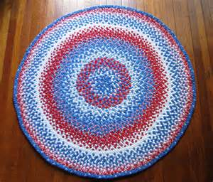 Large Braided Area Rugs Braided Rug Large White And Blue Area By Maurabee
