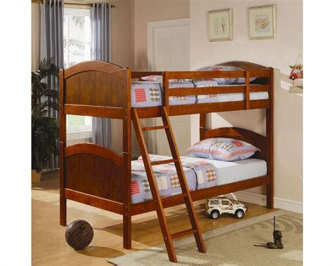 coaster furniture bunk bed coaster furniture twin over twin bunk bed in dark pine