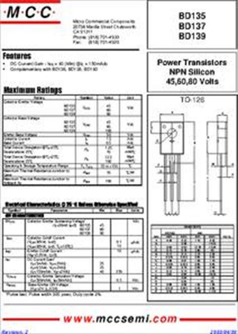 datasheet transistor bipolar bd139 bd137 datasheet package type to 126 plastic encapsulate bipolar transistor