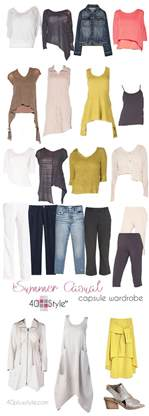 a casual chic capsule wardrobe for summer