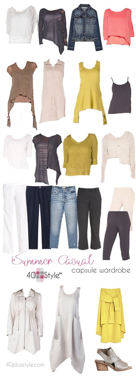 capsule wardrobe for the over40s a casual chic capsule wardrobe for summer