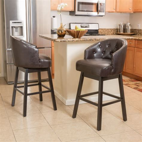 Home Floor And Decor Wooden Brown Leather Bar Stools Home Ideas Collection