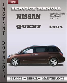 service manual free 1994 nissan quest service manual service manual 2004 nissan quest nissan quest 1994 free download pdf repair service manual pdf
