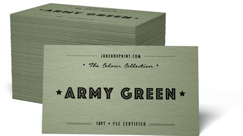 army business cards templates coloured paper business cards from jukebox print