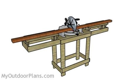 chop saw bench designs miter saw table plans myoutdoorplans free woodworking plans and projects diy shed