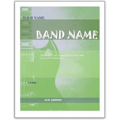 microsoft publisher flyer templates free free band flyer templates for ms word or publisher