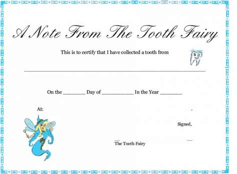 tooth fairy letter letter template