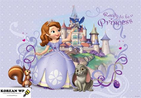 Modern Floral Wallpaper by Popular Disney Sofia Princess Mural For Kids Amp S Room