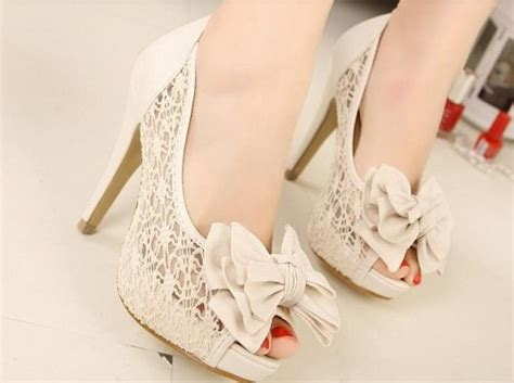 Wedding Shoes High Heels Ivory by Ivory Lace Shoes Muslimstate