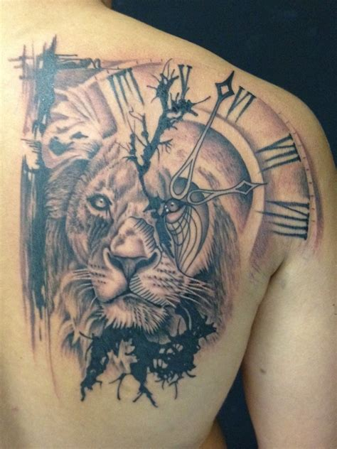 tattoo ideas time 30 lion tattoos designs and ideas for men dzinemag