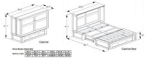 murphy bed dimensions murphy bed cabinet specifications smartspaces com