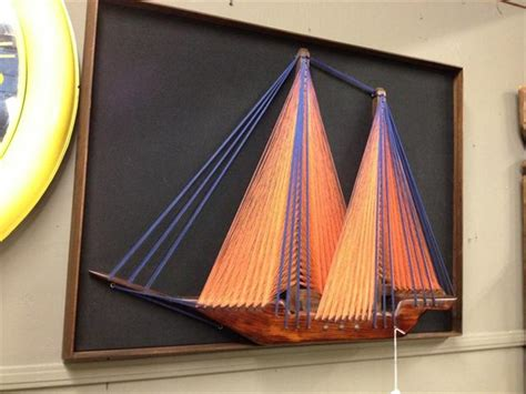 String Sailboat - 1970s string sail boat
