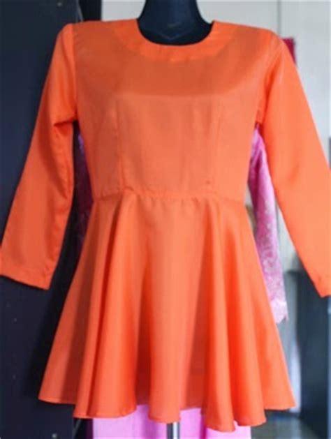 baju kurung moden zip depan sweet and simple cara jahit baju kurung peeplum