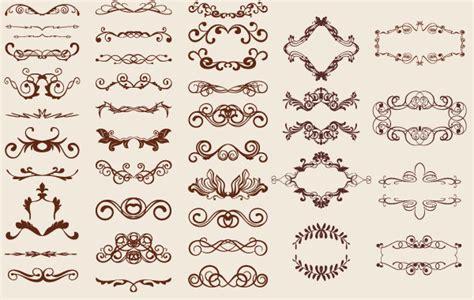 vintage floral design elements vector free download retro design elements free vector