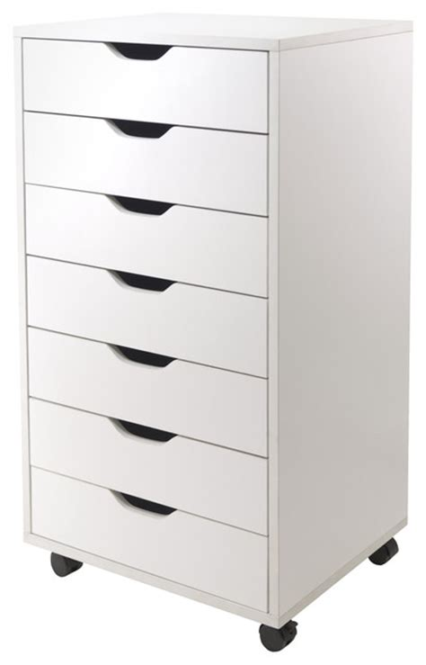 halifax cabinet for closet office 7 drawers white