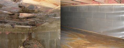 Installing Insulation Basement Ceiling by Crawl Space Vapor Barrier Myths And Problems