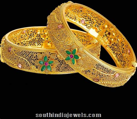 Kerala Home Design July 2015 22k Gold Bangles From Kalyan Jewellers South India Jewels