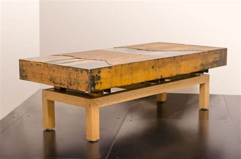 Hand Crafted Industrial Steel Coffee Table   Metal Mix