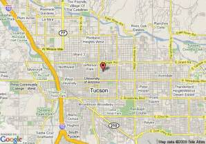 map of tuscon arizona map of arizona inn tucson