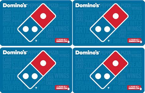 Dominos Gift Card Online Use - 40 for 50 domino s pizza egift card