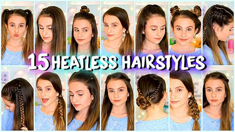 hairstyles quick n easy 15 heatless hairstyles easy and quick lovevie youtube