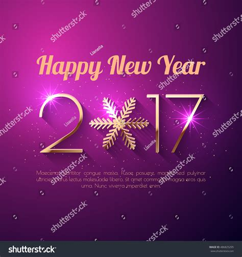 happy new year text vector happy new year 2017 text design stock vector 486825295