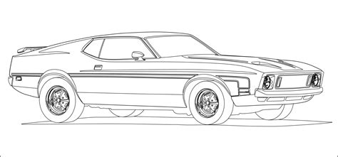 coloring page muscle cars muscle car coloring pages 26506 bestofcoloring com