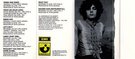 Opel Syd Barrett by Pink Floyd Archives U K Syd Barrett Cassette Discography
