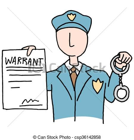Arrest Warrant Search Free Clipart Vector Of Arrest Warrant An Image Of A