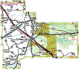 jackson county wisconsin county parks lake maps county maps