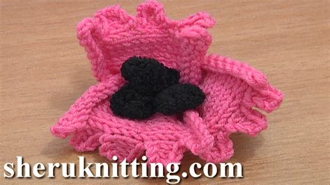 knitted flower pattern youtube how to knit a flower tutorial 22 free knitting flower