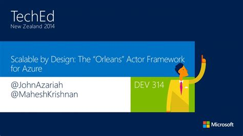 event design framework scalable by design the quot orleans quot actor framework for