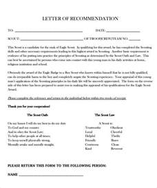 letter of recommendation for eagle scout template eagle scout letter of recommendation 9