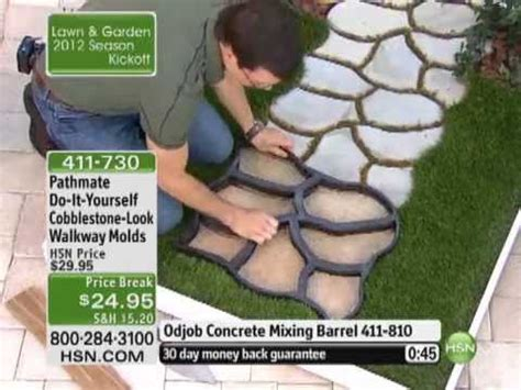 Decorative Stones Home Depot do it yourself cobblestone look walkway molds by pathmate