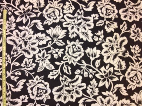 Black And White Home Decor Fabric clearance black and white floral home decor by windowsbymelissa