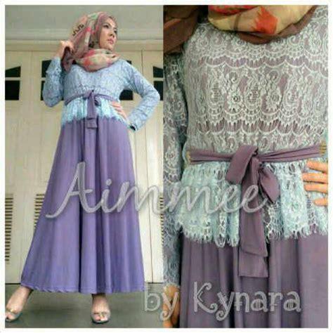 aimme by kynara purple baju muslim gamis modern