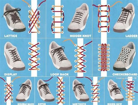 lace up 10 cool ways to tie your shoe laces with