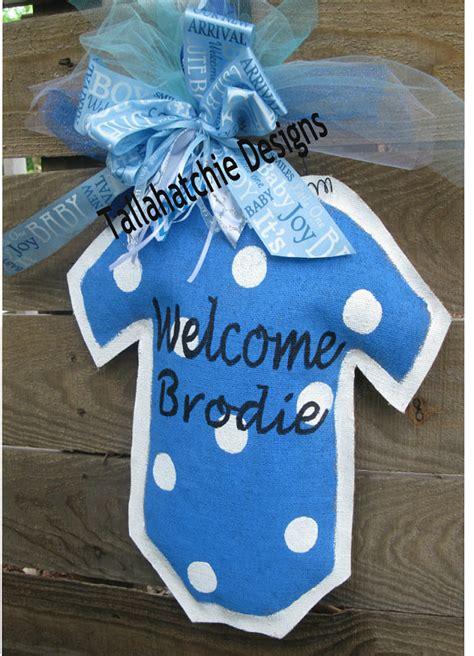 Hospital Door Hangers For Baby by Baby Boy Burlap Door Hanger Hospital Door Hanger New Arrival