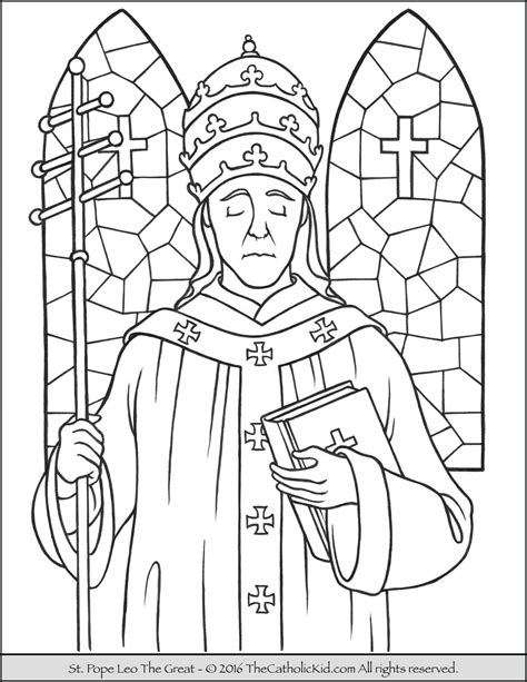 st coloring pages pope leo the great coloring page the catholic kid