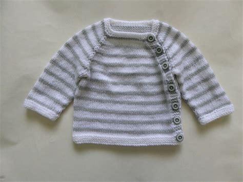 Sweater Knit Babyteri White Stripe newborn knit baby cardigan and hat set grey and white stripes 0 3 months snugglebubs