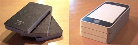 How To Make An Iphone Out Of Paper - paper notebooks mimic iphone wired
