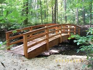 landscape bridge garden bridges 4 52ft long elegant wooden landscape