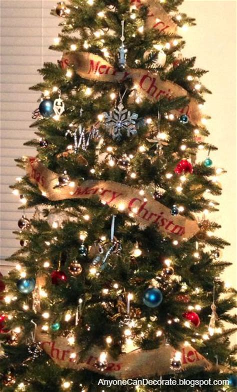 how to put garland on a tree diy burlap tree garland hometalk